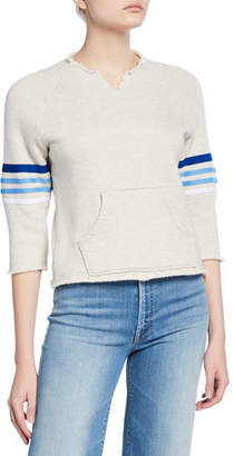 Mother The Square Tear Frayed Pullover Sweater