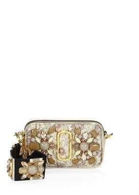 Marc Jacobs Snapshot Floral Embellished Camera Bag