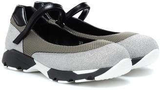 Marni Glitter and mesh sneakers