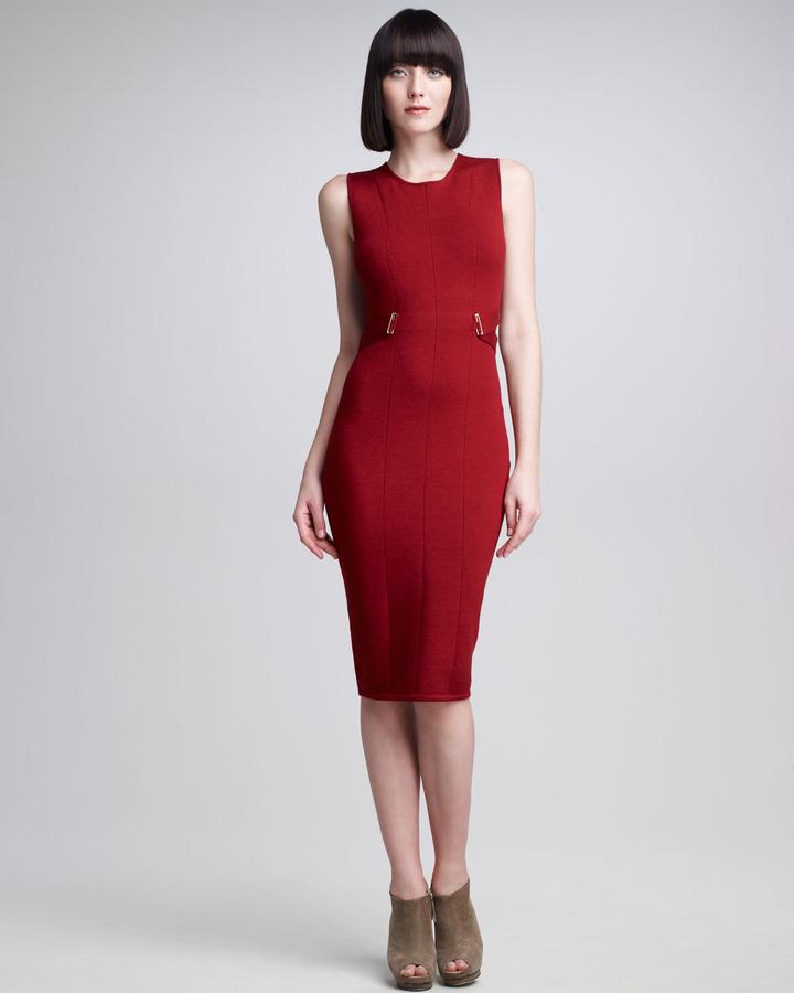 Narciso Rodriguez Banded-Side Sheath Dress