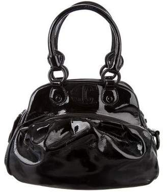 Just Cavalli Patent Leather Top Handle Bag