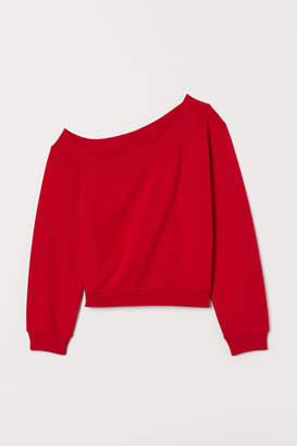 H&M One-shoulder Top - Red