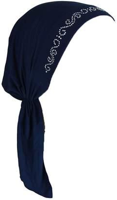 Landana Headscarves Pretied Headscarf Chemo Cap Modesty with Rhinestone Swirly Chain