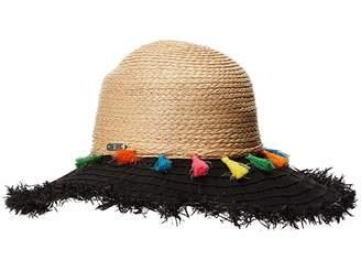 San Diego Hat Company RBL4825OS Ribbon Brim w/ Raffia Braid Crown Caps