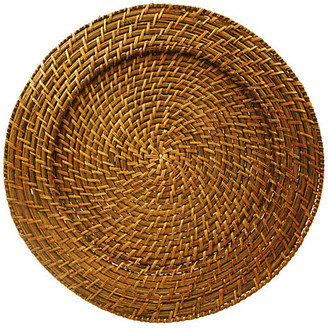 One Kings Lane Set of 4 Harvest Rattan Round Charger Plates