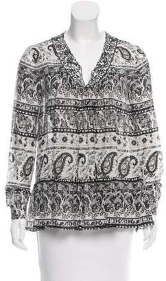 Thakoon Addition Printed Long Sleeve Top