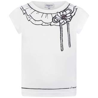 Simonetta SimonettaGirls White Collar Print Top