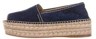 Prada Flatform Peep-Toe Espadrilles