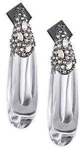 Alexis Bittar Vanitas Crystal Encrusted Capped Hoop Earrings