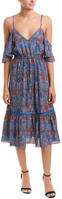 BB Dakota Cold-Shoulder Midi Dress