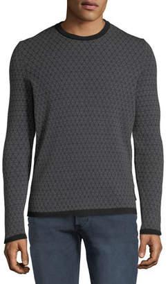 Emporio Armani Men's Geometric Jacquard Wool Sweater
