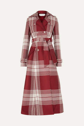 Gabriela Hearst Checked Wool-blend Trench Coat - Red