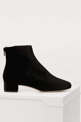 Repetto Glitter velvet ankle boots