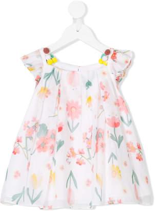 Christian Dior embellished floral-print blouse