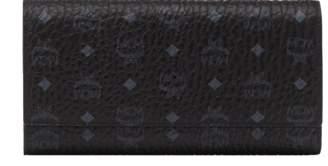 MCM Three Fold Wallet In Visetos Original