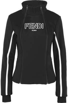 Fendi Roma Paneled Ski Jacket - Black