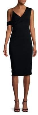Bailey 44 Asymmetrical Shoulder Sheath Dress