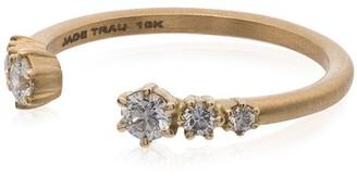 Jade Trau 18K yellow gold Astor diamond open band ring