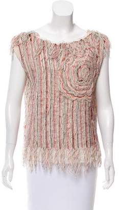 Maurizio Pecoraro Textured Sleeveless Top