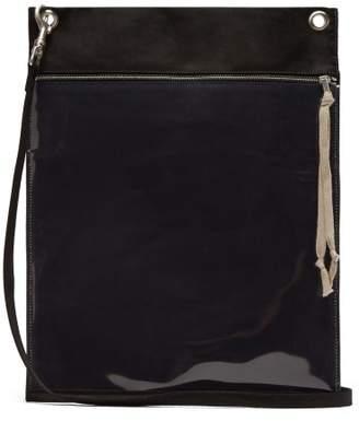 Rick Owens Plastic Pocket Cotton Cross Body Bag - Mens - Black