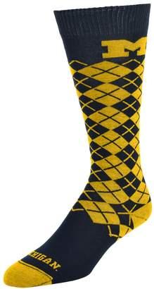 NCAA Women's Mojo Michigan Wolverines Argyle Socks