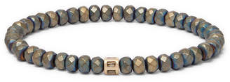 Luis Morais Beaded Hematite, 14-Karat Gold And Diamond Bracelet