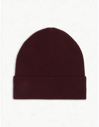 LOU DUNGATE Exeter cashmere ribbed beanie