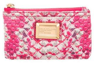 Marc by Marc Jacobs Embossed Leather Zip Wallet