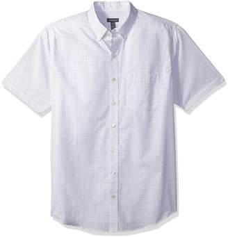 Van Heusen Men's Tall Wrinkle Free Short Sleeve Button Down Shirt