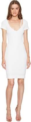 DSQUARED2 Textured Viscose Jersey Short Sleeve Dress Women's Dress