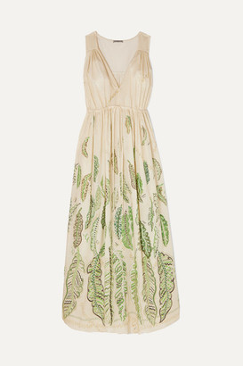 Three Graces London Zhandra Rhodes Solaine Printed Cotton-voile Maxi Dress - Green