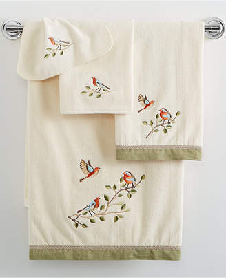 "Avanti Bird Choir 13"" x 13"" Washcloth Bedding"