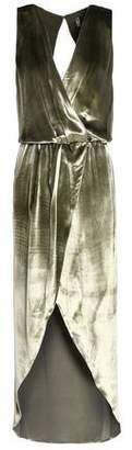 Haute Hippie Wrap-effect Crushed-velvet Midi Dress