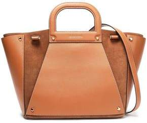 MICHAEL Michael Kors Paneled Leather And Suede Tote