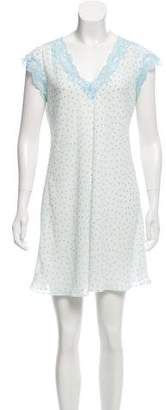 Oscar de la Renta Polka Dot Nightgown