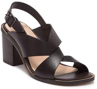 Tahari Nikola Leather Block Heel Sandal