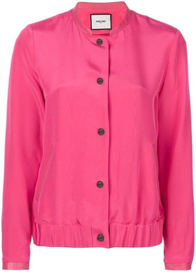 Max & Moi button bomber jacket