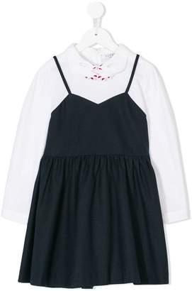 Vivetta Kids embroidered hands collar dress