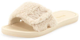 MICHAEL Michael Kors MK Fuzzy Pool Slide Sandals