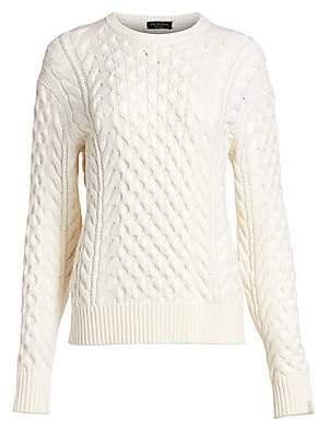 Rag & Bone Women's Aran Cable Knit Crewneck Sweater
