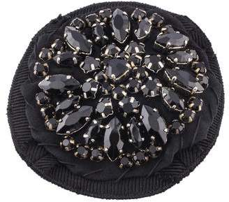 Prada Crystal & Fabric Brooch