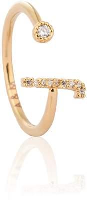 Astrid & Miyu - Gold Initial J Ring