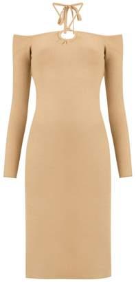 Nk cold shoulder midi dress