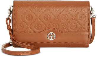 Giani Bernini Logo Embossed Crossbody Wallet