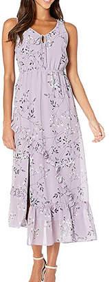 Kensie Violet Blooms Maxi Dress