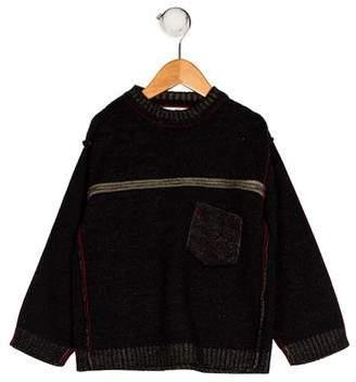Deux Par Deux Boys' Long Sleeve Knit Sweater