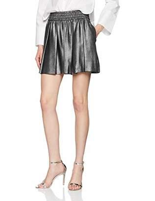 GUESS Women's's Salome Shorts Shiny Black Combo Fe92, ((Size: X-Small)