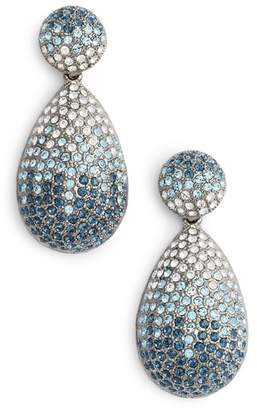 Nina Large Pave Teardrop Drop Earrings