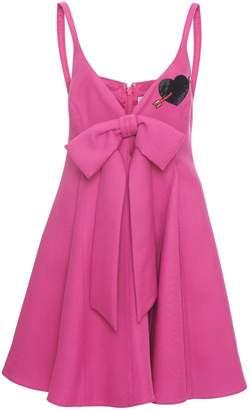 Valentino Bow Front Mini Dress