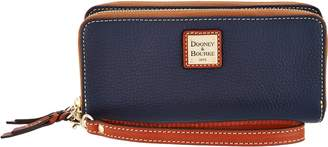 Dooney & Bourke Pebble Leather Double Zip Wallet